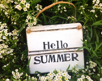 Summer Sign • Hello Summer • Summer Home Decor • Rustic Summer Summer Sign • Summer Seasonal