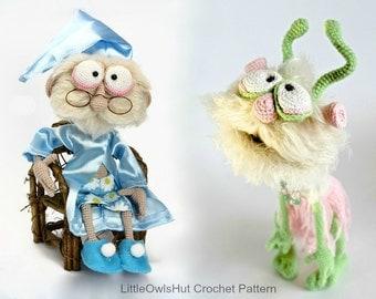 058 Granddad Feodor and Alien Picolumb - Crochet Pattern PDF file Amigurumi by Astashova Etsy