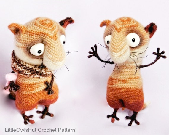 089 Funny Cat with wire frame Amigurumi Crochet Pattern PDF