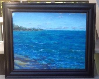 North Shore, Oahu, Hawaii, 16 x 20, framed original oil on canvas