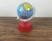 Vintage Globe Pencil Sharpener. Metal Globe. World Decor. Vintage Pencil Sharpener. Vintage School Supply. Spinning Globe. Globe Decor