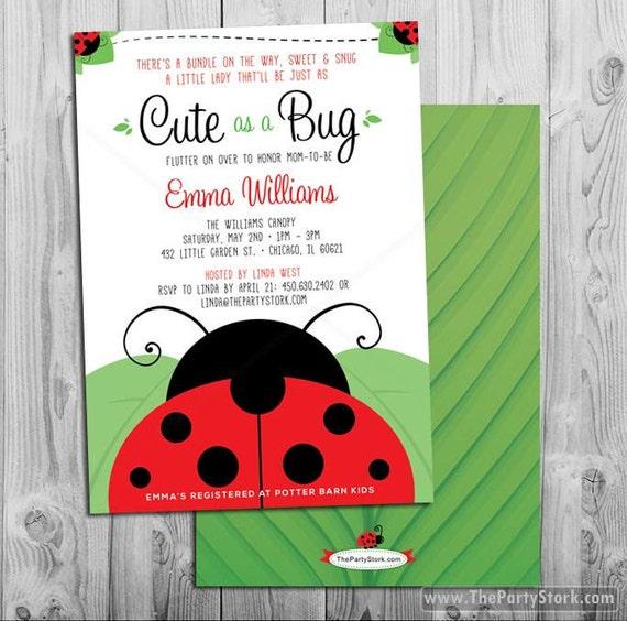 Ladybug baby shower invitations printable cute as a bug theme baby il570xn filmwisefo