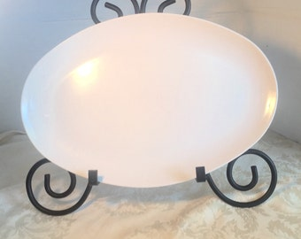 Vintage Melamine White Serving Platter Melmac Camping Supplies