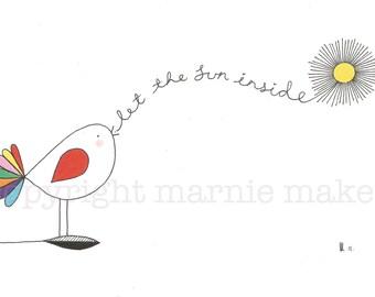 Happy Birds # 1 - Giclee print
