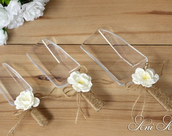 Candy Scoops Burlap Popcorn Scoops Rustic Wedding Scoops Party Scoops Shower Scoops Dessert Table Scoops Buffet