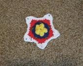 Star flower crochet motif crochet pattern