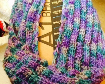 Soft, Shades of Purple Infinity Cowl- ON SALE