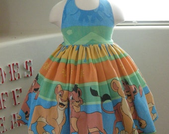 Custom Made to Order Disney Lion King party dress Sz 12M to 6T