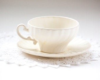 Coronado Ivory Tea Cup and Saucer by Franciscan