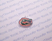 3 University of Florida Gators Charms Large Silver Plated Pendants Albert