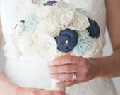 Wedding Bouquet, Sola wood Bouquet, Blue Lace Bouquet, Blue Wedding Bouquet, Alternative Bouquet, Bouquet, Sola flowers, Wood Bouquet