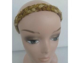 Gold Disco Headband, Boho Headband, Yoga Headband, Hair Accessory, Stretchy Headband, Gifts for her