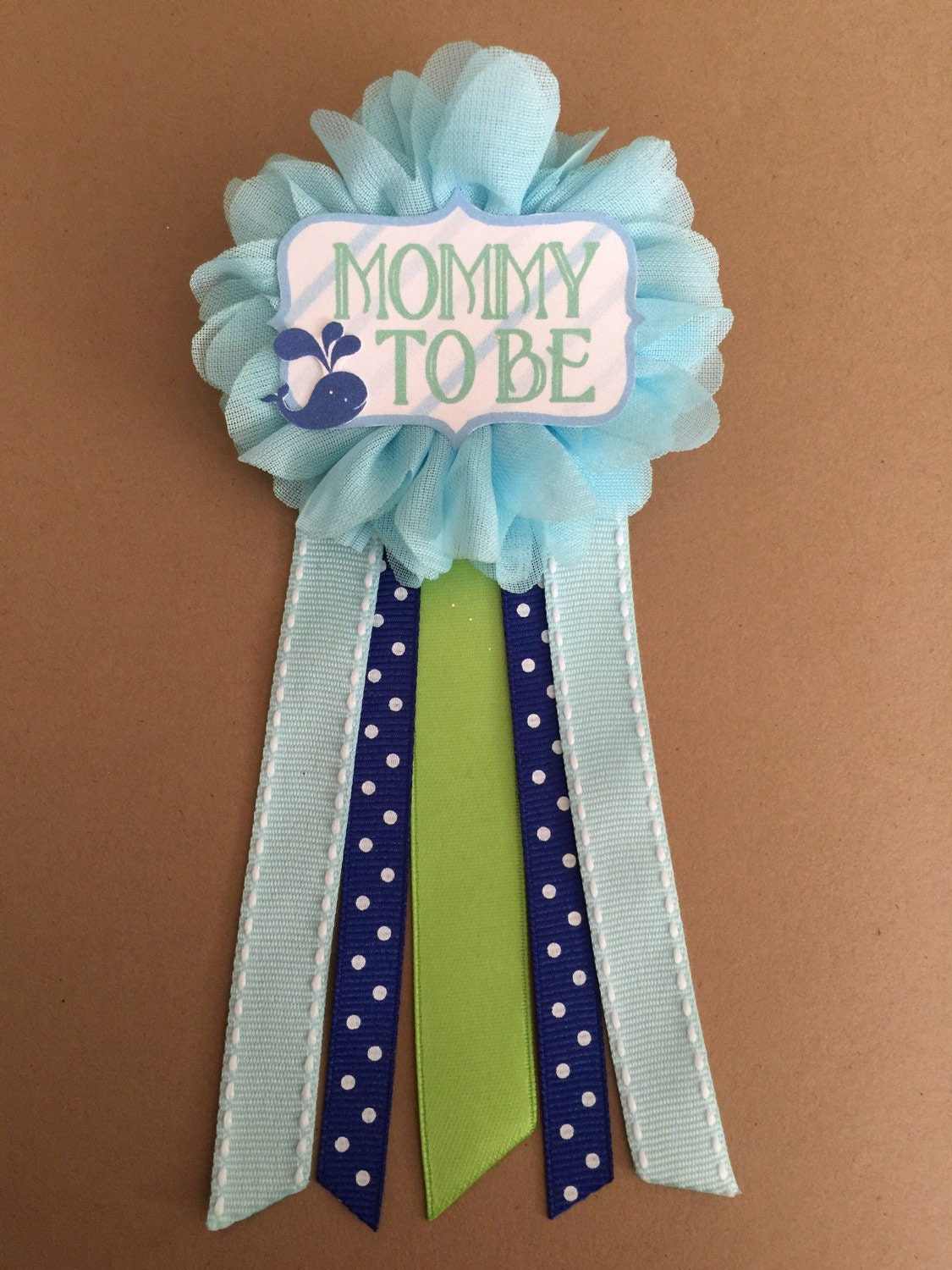 blue whale baby shower mommy to be flower ribbon pin by afalasca