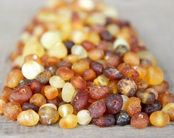 50 pcs Baltic amber beads