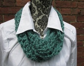 Infinity Accent Scarf Crochet Acrylic Washable Colorful Warm Soft Handmade Adjustable Turquoise