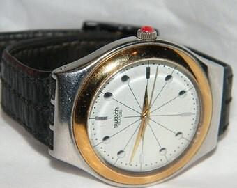 Mens Collier YGS104 Swatch Swiss Irony Big Watch