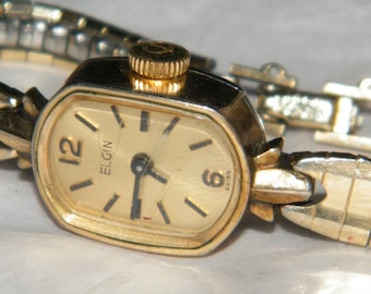 Vintage Elgin Major 17 Jewels Swiss Made 10KT RGP Ladies Mechanical Wind Up Watch