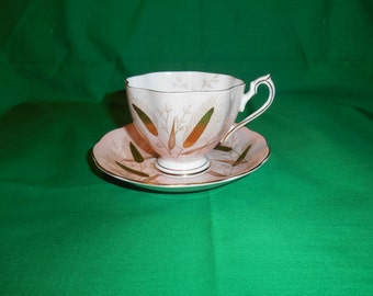 One (1), Bone China, Footed Tea Cup & Saucer, from Princess Anne China, of England, in the 5492 Pattern.