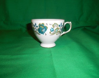 One (1), Bone China, Tea cup, from Queens China, in a Unknown Pattern.