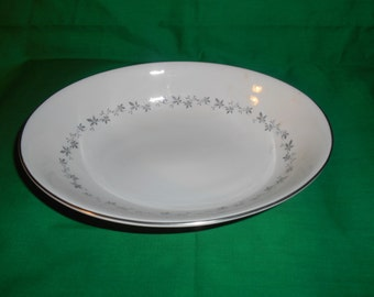 """One (1), 9"""" Oval Vegetable Bowl, from Royal Doulton, in the Cadence Pattern."""