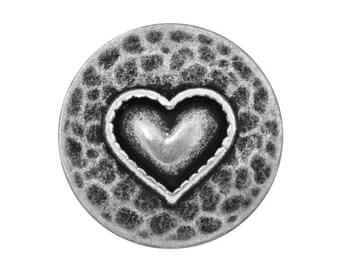 12 Heartfelt 11/16 inch ( 18 mm ) Metal Buttons