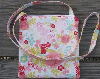 Small Crossbody Purse Crossbody Bag Sling Shoulder Bag Boho Purse Hippie Bag Flowers Roses