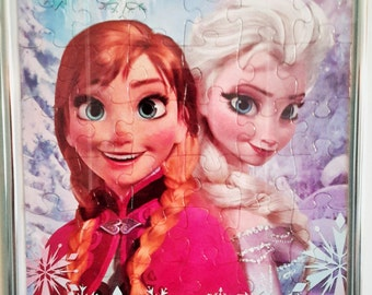 Disney's Frozen Puzzle Art of Anna and Elsa for your Princess's Wall