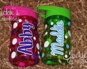 Personalized Kids Waterbottle with Flip Up Straw/Flip Up Straw Water Bottle