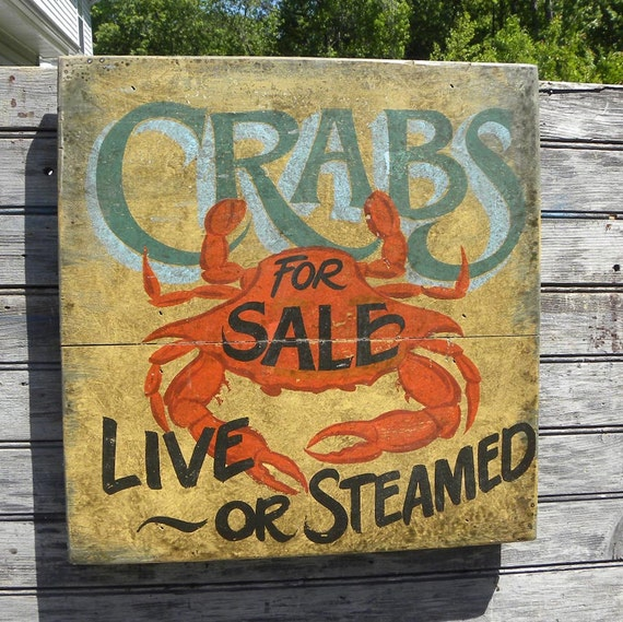 Crab Shack    Sign, hand painted, original, Z FS C5