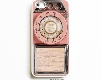 Rubber iPhone 5 Case. iPhone 5S Case Rubber. Vintage Pink Payphone. Phone Case. Phone Cases. Rubber Phone Case.