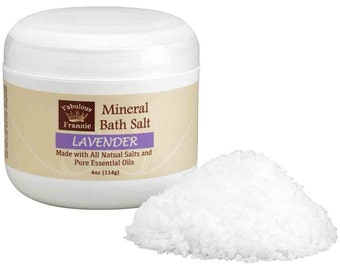 Lavender Mineral Bath Salt 4 oz