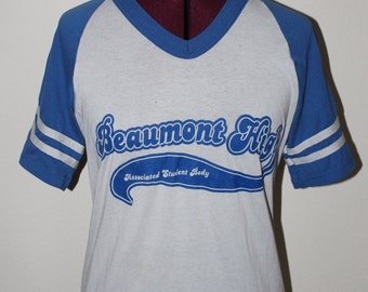 """Vintage """"Williams"""" Beaumont High Student Body Tee"""