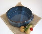 Variegated Blue Casserole Dish