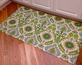 Folk-art inspired floor cloth