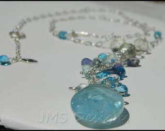 Aquamarine Blue Splendor Necklace