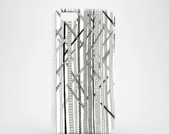 Pattern trees phone case, black and white iPhone 7 case, iPhone 7 Plus, iPhone SE, iPhone 6S, iPhone 6, iPhone 5S, iPhone 5, abstract case