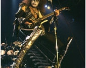 KISS Collectibles KISS Memorabilia KISS Gene Simmons Alive 2 Era Live Photo Stand-Up Display - Prints And Posters Rock And Roll Celebrities