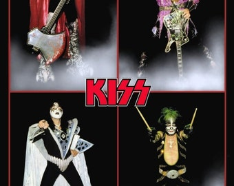 KISS Collectible Memorabilia - KISS Dynasty Era Posters Collage Stand-Up Display Albums Frameable 1979 Gift Idea Collection Poster Album
