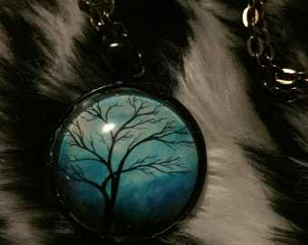 Tree Glass Pendant / Necklace
