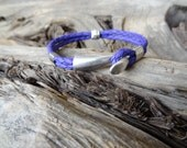 Unisex Bracelet, Braided Purple Robe Bracelet,  Unisex Jewelry, Cuff Bracelet, Father's Day, Mother's DayGift for Her