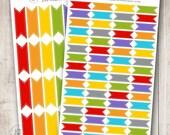 Rainbow Stitched Ribbon, Set of 28 or 64