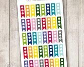 Rainbow 3 Dot To Do List Flags, Set of 40