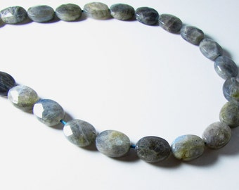 Labradorite Faceted Oval Beads 15mm - 16mm