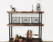 Rustic Industrial Reclaimed Wood Bookshelf