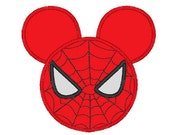 Mickey Inspired Spidermouse Fan Art - DIY Applique Design For Embroidery Machines- Instant Download