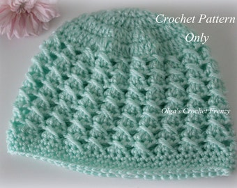 Crossed DCs Baby Hat Crochet Pattern, Size 3-6 Months, Easy to Make, Instant PDF Download