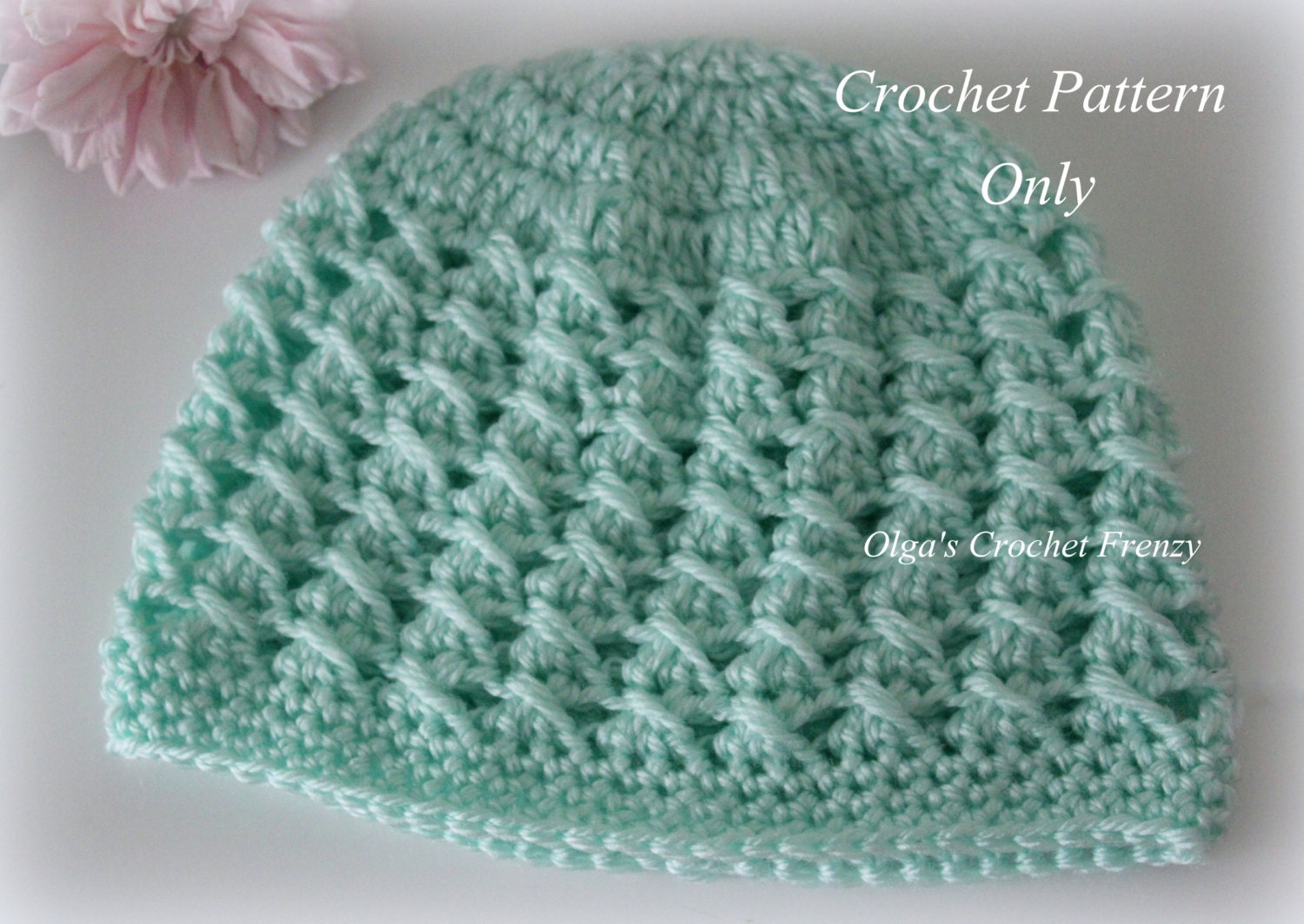 Crochet Baby Hat Patterns 6 Months : Crossed DCs Baby Hat Crochet Pattern Size 3-6 Months Easy to