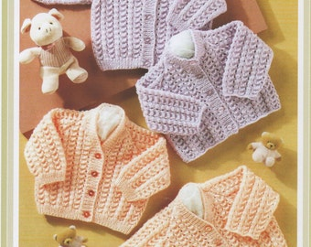 Beautiful pdf knitting pattern for baby Cardigans