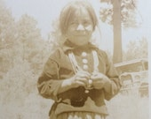 Navajo Girl Necklace Concho Buttons Antique Native American Photo