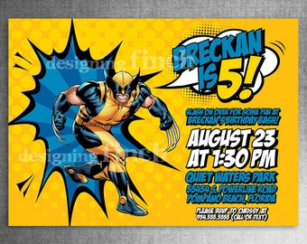 Wolverine Birthday Invitation  #145